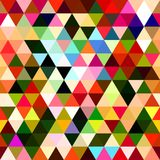 Patchwork Triangle Pattern Print. A colorful geometric triangle background fashion print Vector Illustration