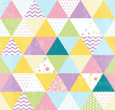 Patchwork triangles pattern Royalty Free Stock Image
