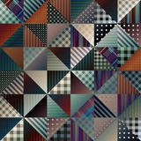 Patchwork of triangles. Royalty Free Stock Image