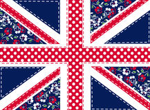 Patchwork union jack. Patch work union jack flag illustration Royalty Free Stock Images