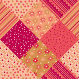 Patchwork vector pattern Royalty Free Stock Image