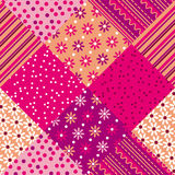 Patchwork vector pattern Royalty Free Stock Images