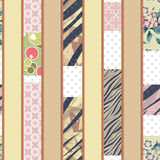 Patchwork vertical design seamless floral pattern ornament color Royalty Free Stock Images