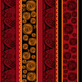 Patchwork vertical design seamless floral pattern ornament Stock Images