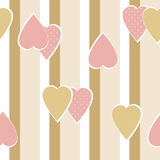 Patchwork vertical stripes geometrical herts pattern texture  Stock Images