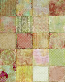Patchwork of vintage Floral designs Background. Patchwork of vintage floral designed backgrounds, rich and textured for scrapbooking and design, 12x12 inches in Royalty Free Stock Images