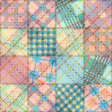 Patchwork w geometrycznym stylu Obrazy Stock