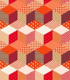 Patchwork in warm autumn colors. Bright colorful zigzag seamless pattern. Multicolor vector illustration Vector Illustration