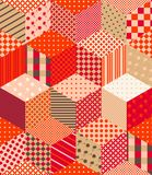 Patchwork in warm autumn colors. Bright seamless pattern. Colorful vector illustration Vector Illustration