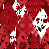 Patchwork wild floral seamless pattern background Stock Images