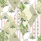 Patchwork wild floral seamless pattern background Stock Photography