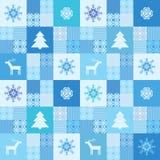Patchworkart-Weihnachtshintergrund Lizenzfreies Stockbild
