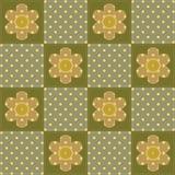 Patchworkbakgrund med blommor Royaltyfri Fotografi