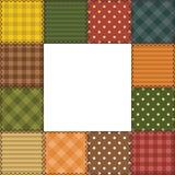 Patchworkfeld mit verschiedenen Mustern Stockbild