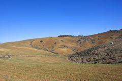 Patchworkfelder von Andalusien in Süd-Spanien Stockfotos