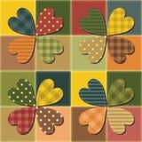 Patchworkhintergrund mit verschiedenen Mustern Stockfoto