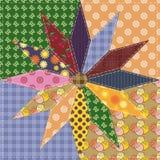 Patchworkhintergrund mit verschiedenen Mustern Stockfotos