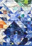 patchworktäcke Arkivfoton