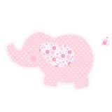 Patchworku ślicznego słonia odosobniona wektorowa ilustracja Fotografia Stock