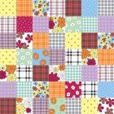 patchworku bezszwowy deseniowy Obraz Stock