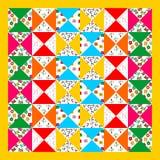 patchworku bezszwowy deseniowy Obrazy Stock