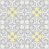 Patchworku bezszwowy wzór z geometrycznych elementów retro kolorami Zdjęcie Royalty Free