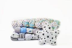 Patchworku comforter i pięcioramienna gwiazda kształtowaliśmy poduszkę na białym tle zdjęcie stock