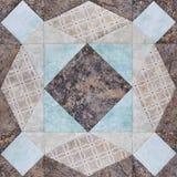 Patchworku geometryczny blok od kawałków tkaniny, szczegół kołderka obraz stock