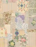 Patchworku kolaż roczników papiery Zdjęcie Royalty Free