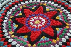 patchworku kolorowy poduszkowy graficzny pentacle Zdjęcia Stock