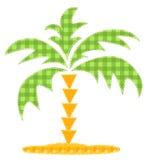patchworku palmowy drzewo Zdjęcia Royalty Free