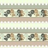 Patchworku retro beż barwi makowego kwiecistego tkanina wzór Zdjęcie Stock
