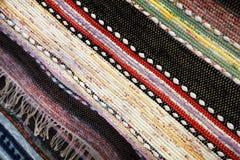 Patchworkwolldecken-Hintergrundbeschaffenheit Lizenzfreies Stockfoto