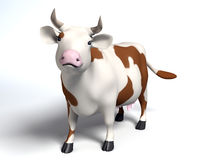 Patchy cow Royalty Free Stock Images