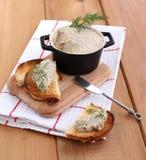 pate гриба хлеба Стоковое фото RF