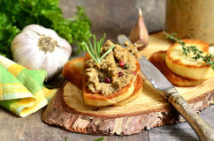 Pate from beef liver and vegetables. Royalty Free Stock Photography