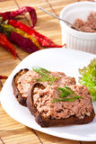 Pate on bowl Stock Image