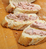 Pate on Bread Stock Photography