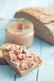 The pate with bread Stock Image