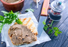 Pate and bread Royalty Free Stock Images