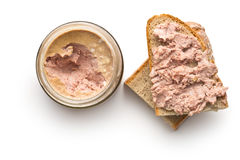 The pate with bread Stock Photography
