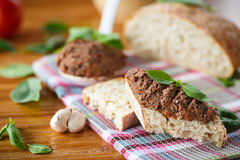 Pate with bread Stock Photo