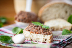Pate with bread Royalty Free Stock Image
