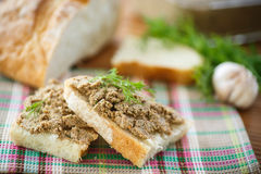 Pate with bread Stock Image