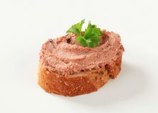 Pate canape Royalty Free Stock Images