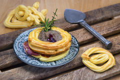 Pate in choux pastry nest Royalty Free Stock Images