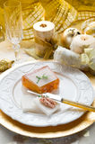 Paté on christmas table Royalty Free Stock Photography