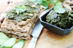 Pate with cilantro Royalty Free Stock Images