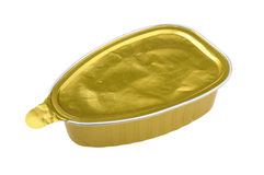Pate in a closed tin can Stock Image