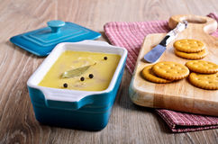 Pate covered with fat Royalty Free Stock Photography